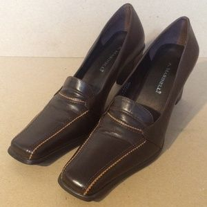 Brown Leather A.Marinelli 'Horoscope' Pumps